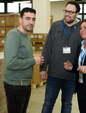 Fabio (Fachkraft für Lagerlogistik bei BIW) im Interview zum Thema Zeitarbeit